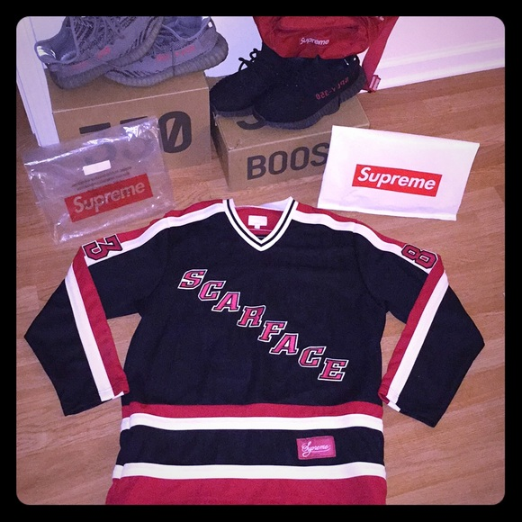 27164727f Supreme Shirts | X Scarface Hockey Jersey Black | Poshmark